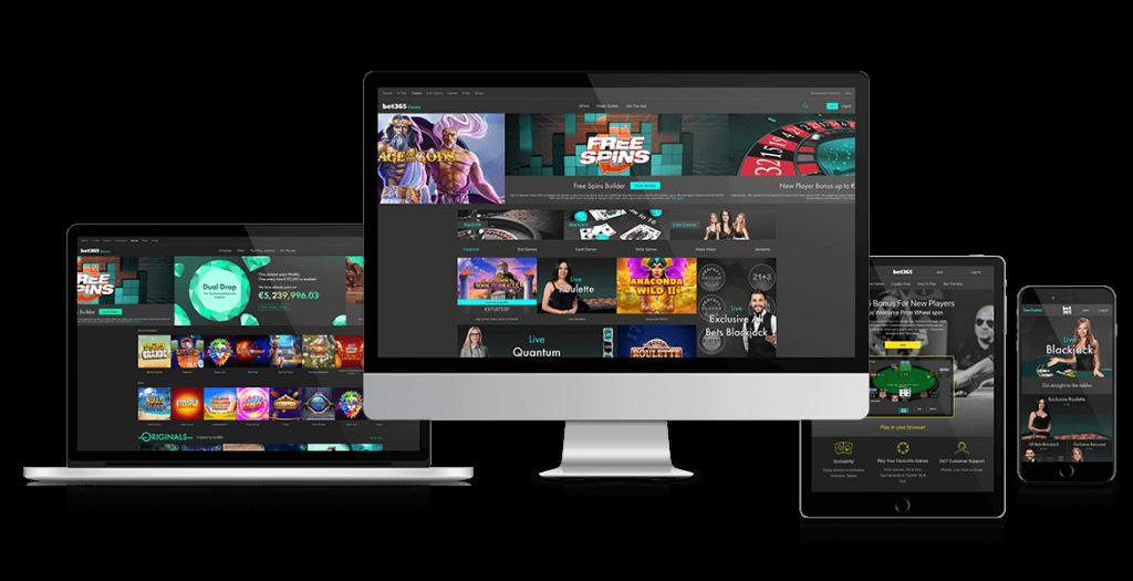 Dispositivos disponibles Bet365 Casino