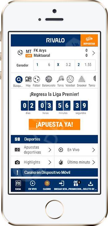 Rivalo app móvil